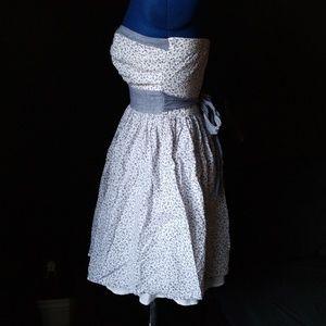 Windsor Dresses - Light Blue and White Strapless Floral Dress